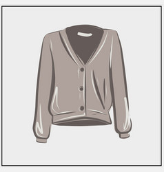 cardigan beige wool sweater autumn clothes vector image