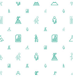 Career icons pattern seamless white background vector