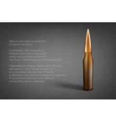 cartridge bullet vector image