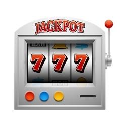 Casino slot gambling machine lucky and win vector image