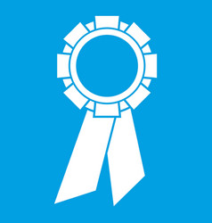 champion medal icon white vector image