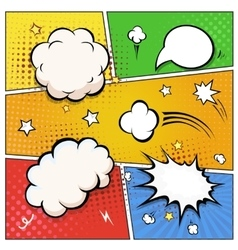 Comic Book Speech Bubbles A set of colourful and vector image