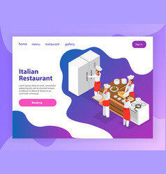 cooking landing page vector image