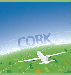 Cork flight destination vector