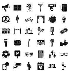 Development icons set simple style vector
