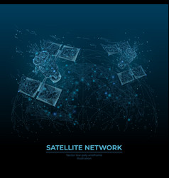 Digital satellites and earth vector