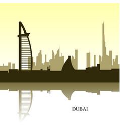 dubai cityscape vector image