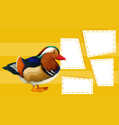 duck on note template vector image