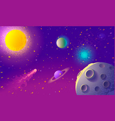 Dynamic colorful outer space background vector