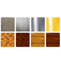 Eight different texture background vector