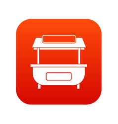 Empty counter with canopy icon digital red vector