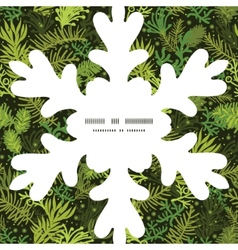 Evergreen christmas tree Christmas snowflake vector