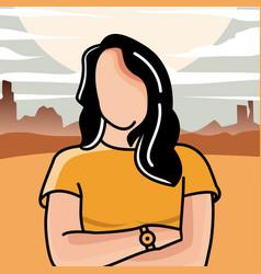 Female logo background desert vector