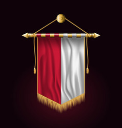 Flag of monaco festive vertical banner wall vector
