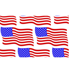 flag of usa pattern vector image