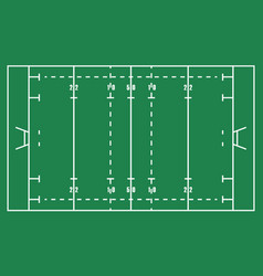 flat green rugby field top view of american footb vector image