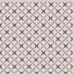 geometric pattern on pink background vector image