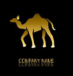 golden camel symbol vector image