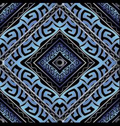 Greek meanders seamless pattern geometric tiled vector