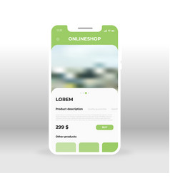 green online shopping ui ux gui screen for mobile vector image
