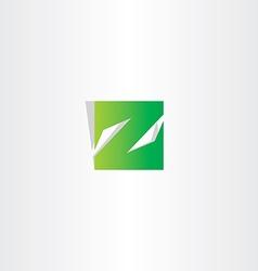 green z letter logo square icon vector image