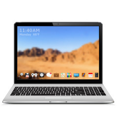 high quality modern laptop with vector image