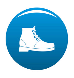 Hiking boots icon blue vector