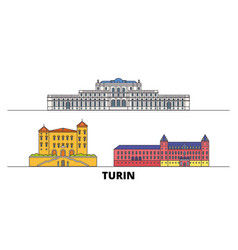 Italy turin residences of the royal house of vector