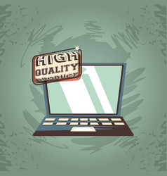 Laptop computer gadget high quality product grunge vector