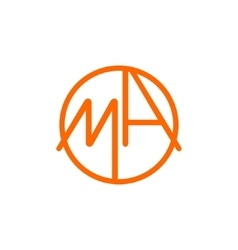 Logo M and A vector image