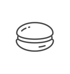 macaroon line outline modern icon vector image