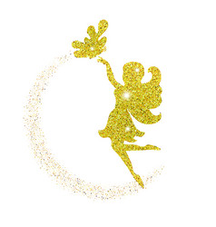 magical fairy with dust glitters magical fairy vector image