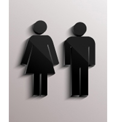 Male and female icons vector