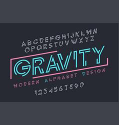 Modern display font design alphabet character set vector
