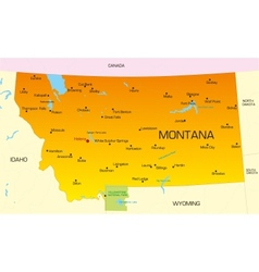 Montana vector image vector image