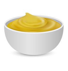Mustard sauces mockup realistic style vector
