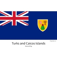 National flag of Turks and Caicos Islands with vector