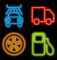 neon mechanic set vector image