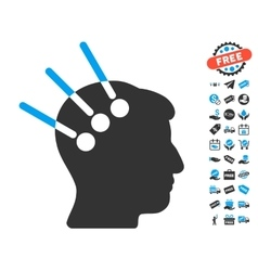 Neural Interface Icon With Free Bonus vector