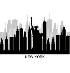 new york city statue of liberty scene vector image vector image