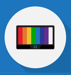of tech symbol on tv flat icon vector image
