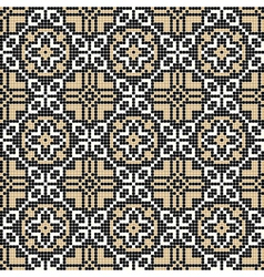 Ornate geometry seamless pattern vector