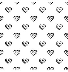 Pea heart pattern seamless vector