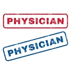 Physician Rubber Stamps vector