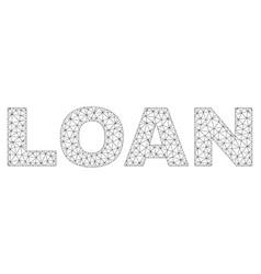polygonal 2d loan text label vector image