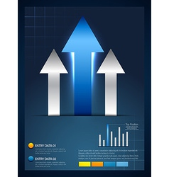 rising arrow infographic template vector image