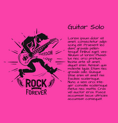 Rock music forever guitar solo colorful poster vector