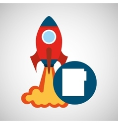 rocket launch start up business file graphic vector image