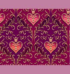 royal padlock pattern vector image