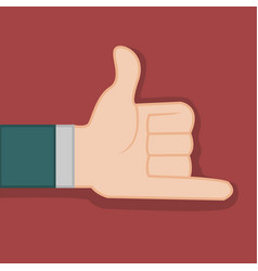 Shaka calling hand gesture graphic vector